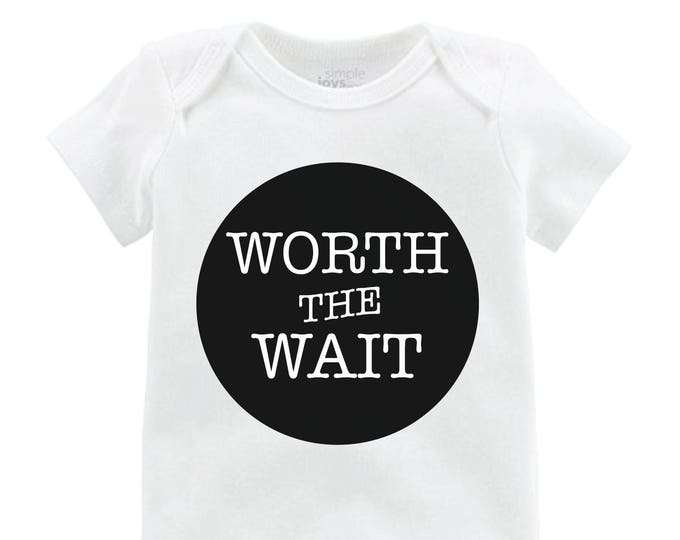 Boy Worth the Wait Onesie Black Worth the Wait Bodysuit Boy Coming Home Onesie Newborn Coming Home Bodysuit Hello World Boy Shirt Boy