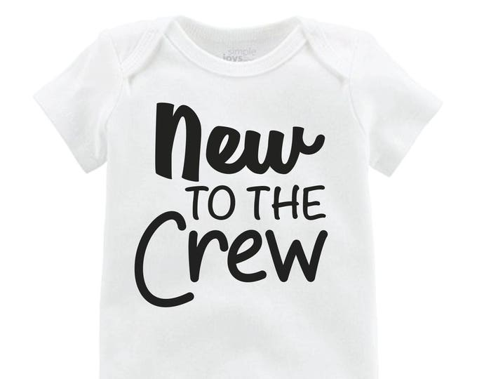 New to the Crew Boy Onesie Black New to the Crew Bodysuit Boy Coming Home Onesie Newborn Coming Home Bodysuit Hello World Boy Shirt Boy