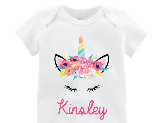 Unicorn Face Onesie Personalized Flutter Sleeve