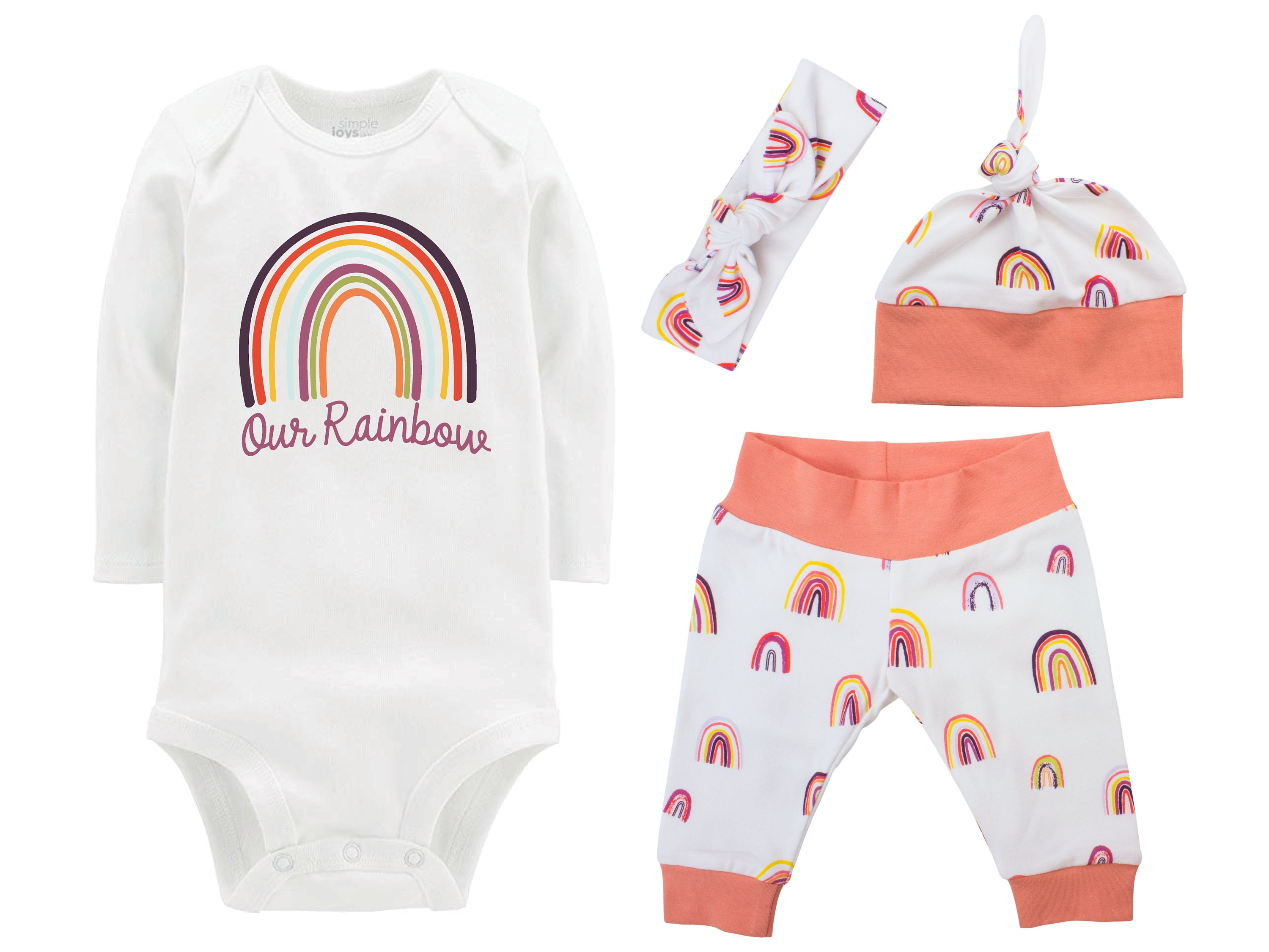 Our Rainbow Baby Girl Coming Home Outfit Personalized ...