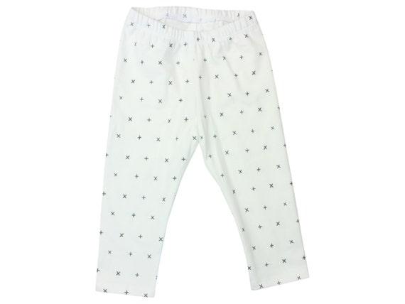 White and Gray Baby Leggings Unisex Toddler Leggings Girl Leggings Boy Leggings Winter White Baby Pants + x Baby Gift Baby Leggings