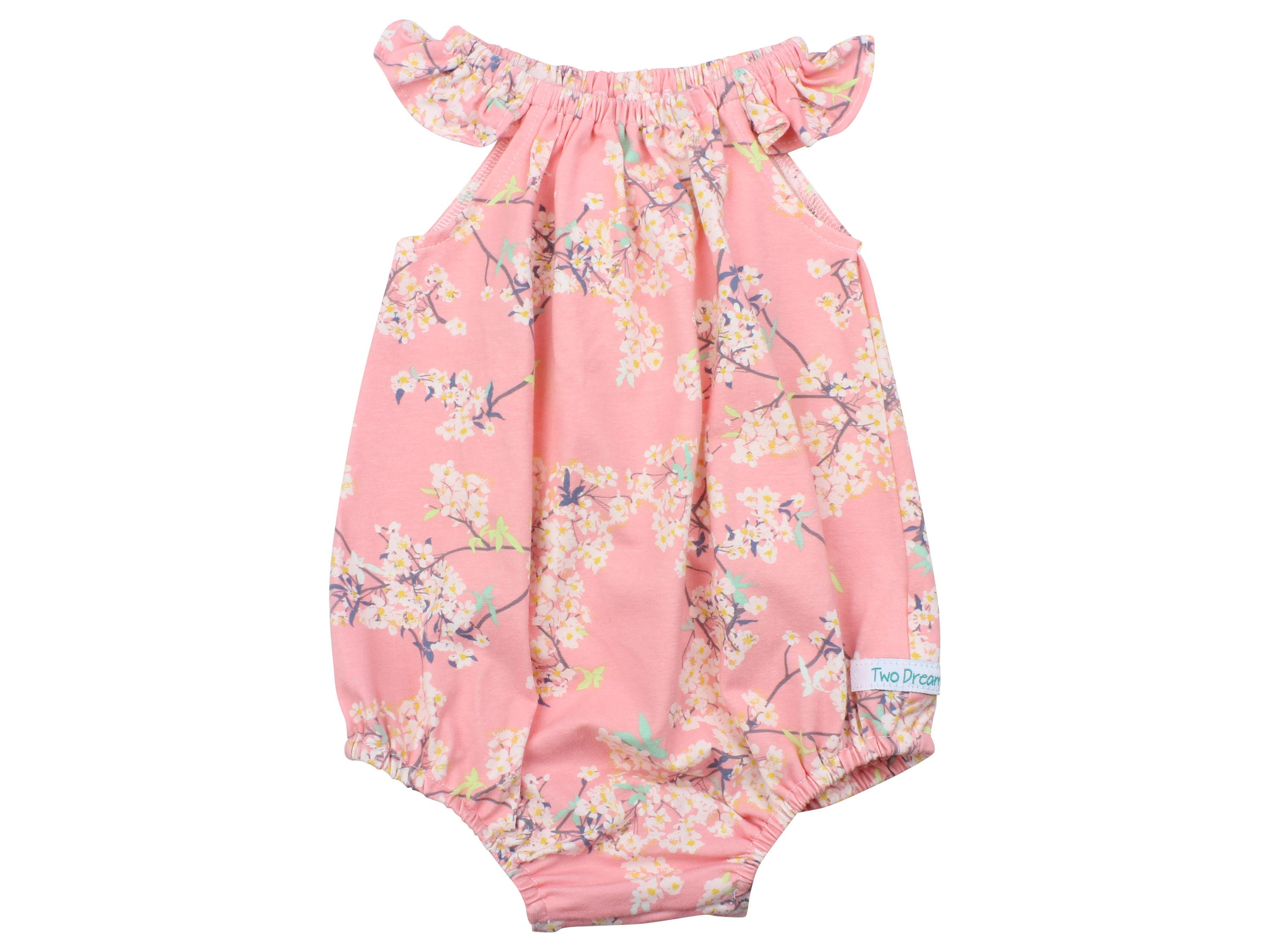 3482a5fd033e Baby Romper with Snaps Pink Cherry Blossom Baby Romper Summer ...