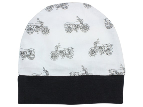 Motorcycle Jersey Knit Boy Baby Beanie Hat Motorcycle Unisex Baby Leggings Baby Newborn Beanie Toddler Beanie Slouch Beanie Fitted Baby Gift