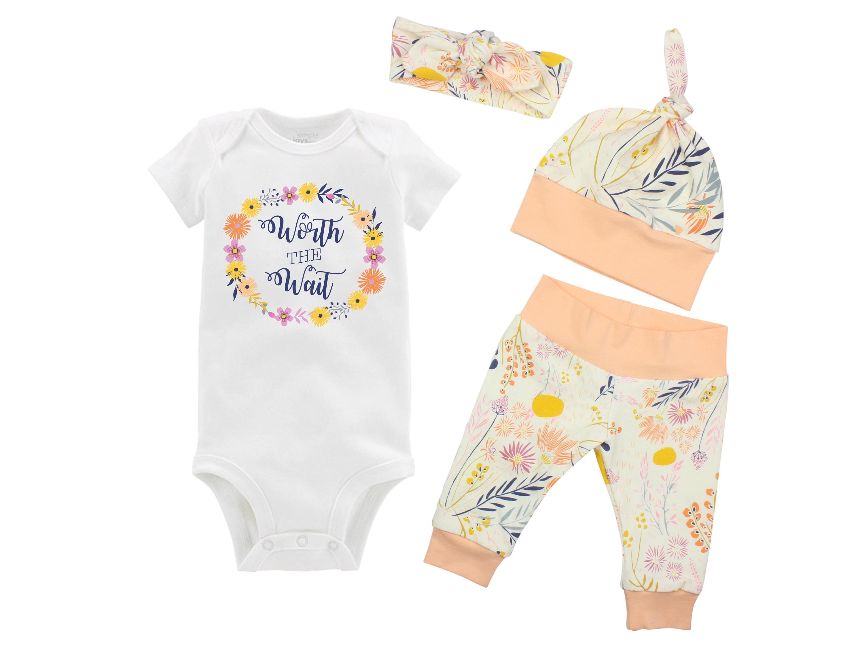 9b1bd1b0abb3 Worth the Wait Onesie Newborn Coming Home Set Bodysuit Infant ...