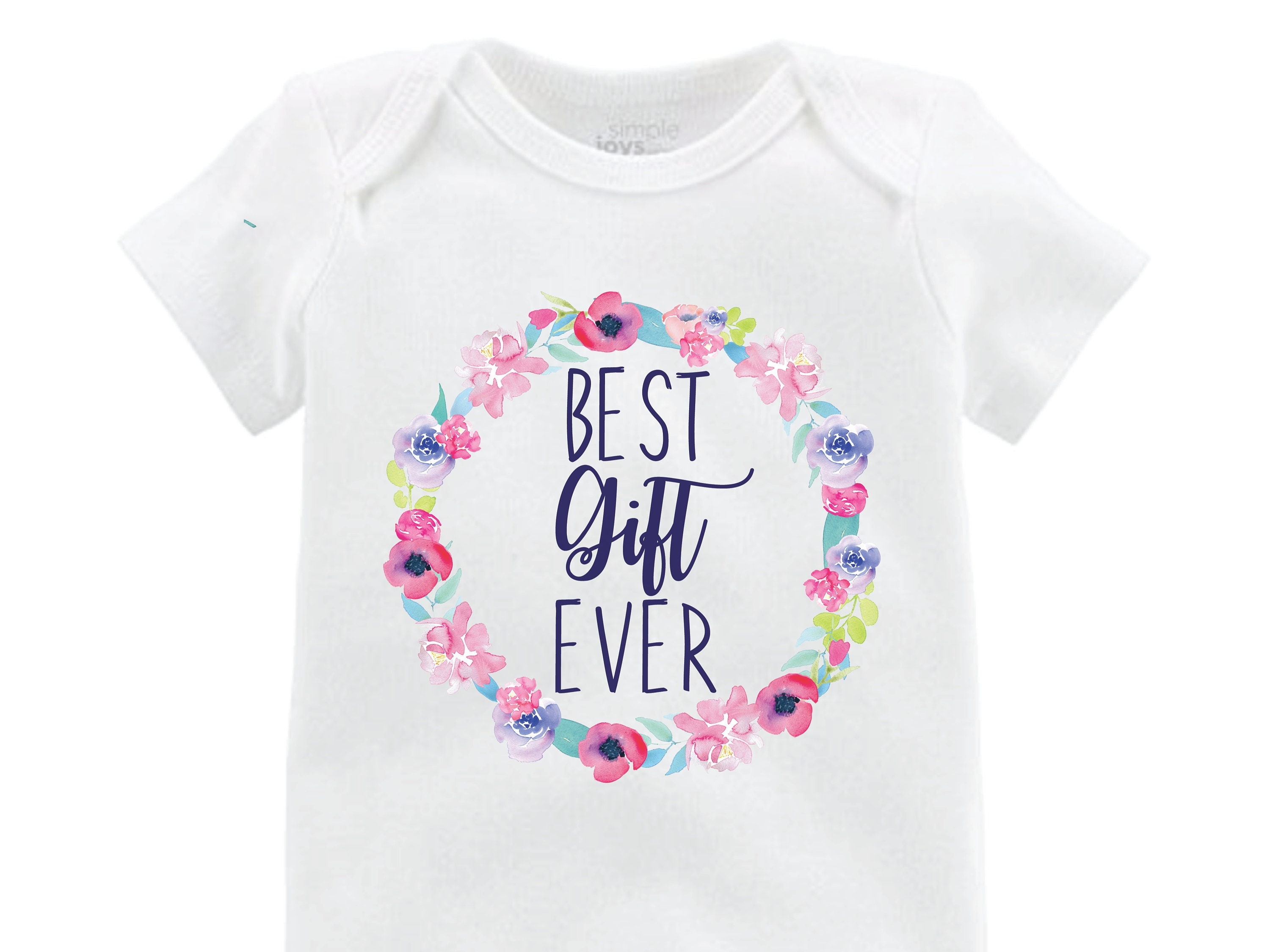 211d6c3a5 Best Gift Ever Girl Coming Home Outfit Onesie Infertility Onesie Infant  Watercolor Floral Yoga Leggings Top Knot Hat Headband Blessing
