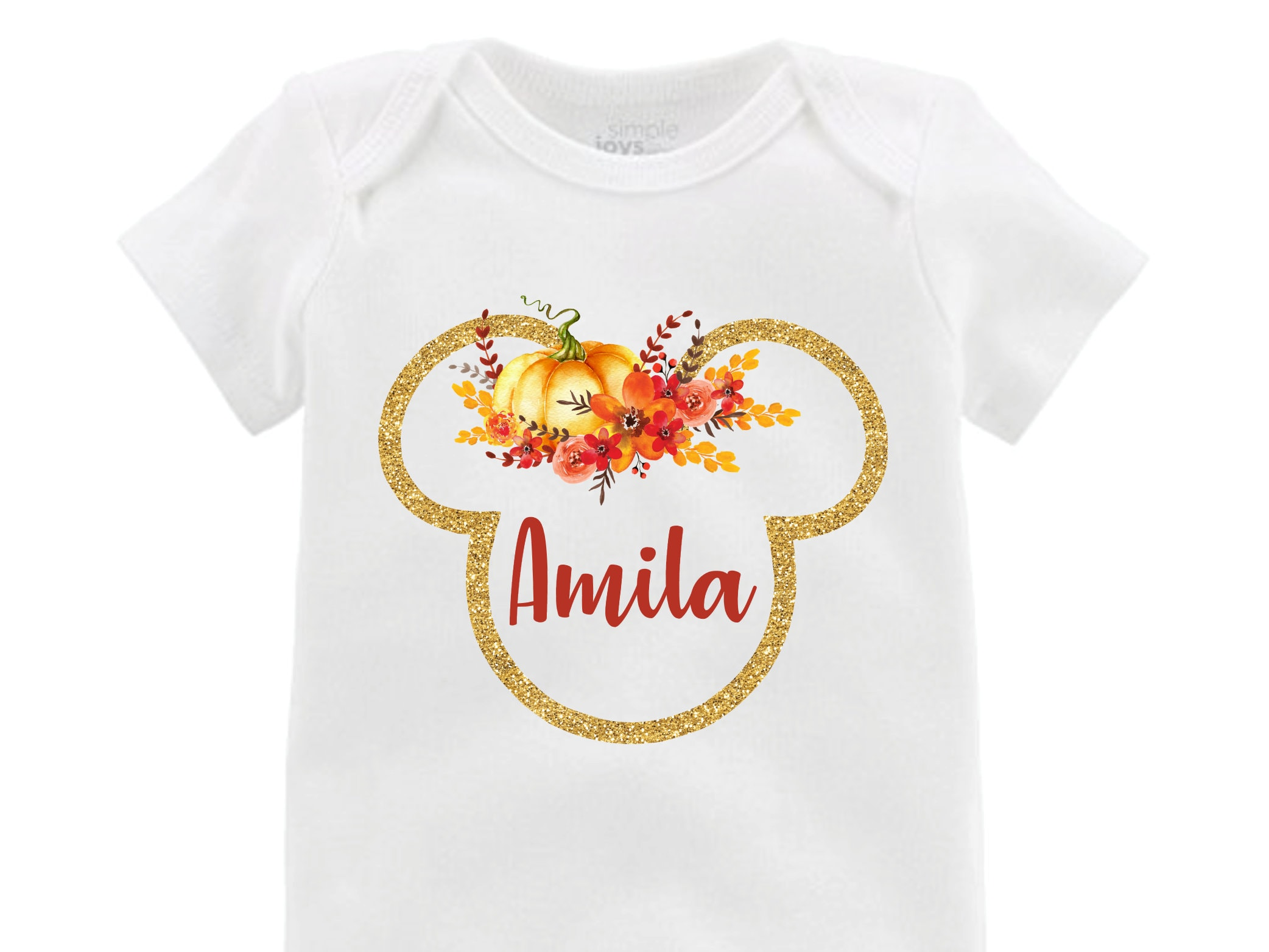 0c05114e1c2 Fall Pumpkin Glitter Sparkle Minnie Floral Ears Bodysuit Personalized  Flutter Sleeve Minnie Birthday Girl Monogram Halloween Minnie. gallery  photo ...