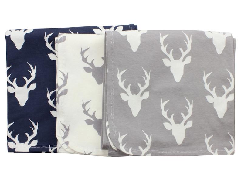 0a4e06ff6fb Buck Deer Newborn Swaddle Set Swaddle Blanket Boy Top Knot Hat