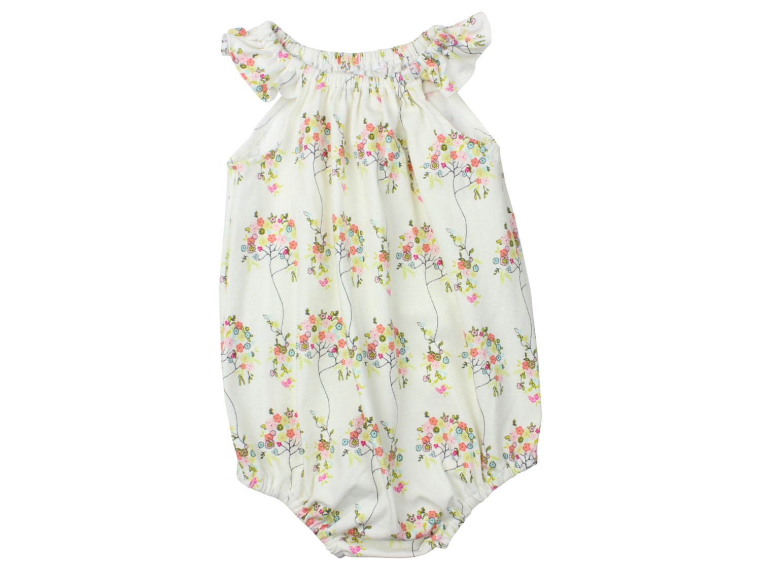 b2ffb890ad7a Baby Romper Toddler Romper Floral Tree Baby Romper Summer ...