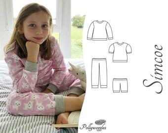 Pajama Pattern - Simcoe - PDF - 2-12Y