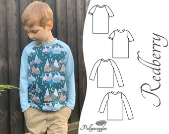 T-Shirt Pattern - Redberry - Raglan & Set-in