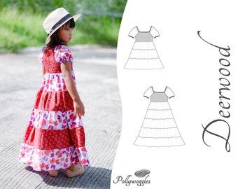 """Peasant Dress Pattern - """"Deerwood"""" - 2-12Y"""