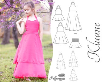 "Dress & Peplum Pattern - ""Kluane"" - 2-12Y"