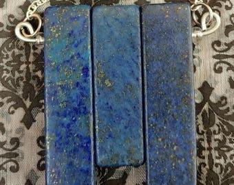 Lapis Lazuli Trio Necklace