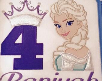 Queen Elsa birthday shirt
