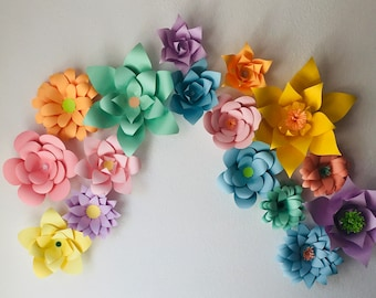3d paper flowers etsy more colors 3d paper flowers mightylinksfo