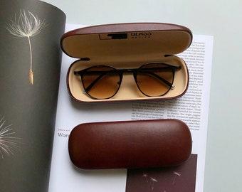Colorful Flower Plant Paint Glasses Case Eyeglasses Clam Shell Holder Storage Box