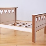 Heart Bed Kit 1:12 Dolls House