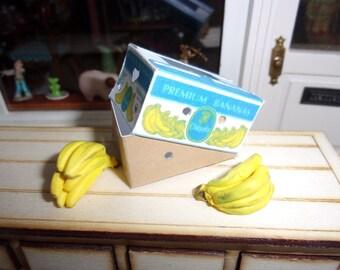 Dollhouse miniature set of 3 banana boxes