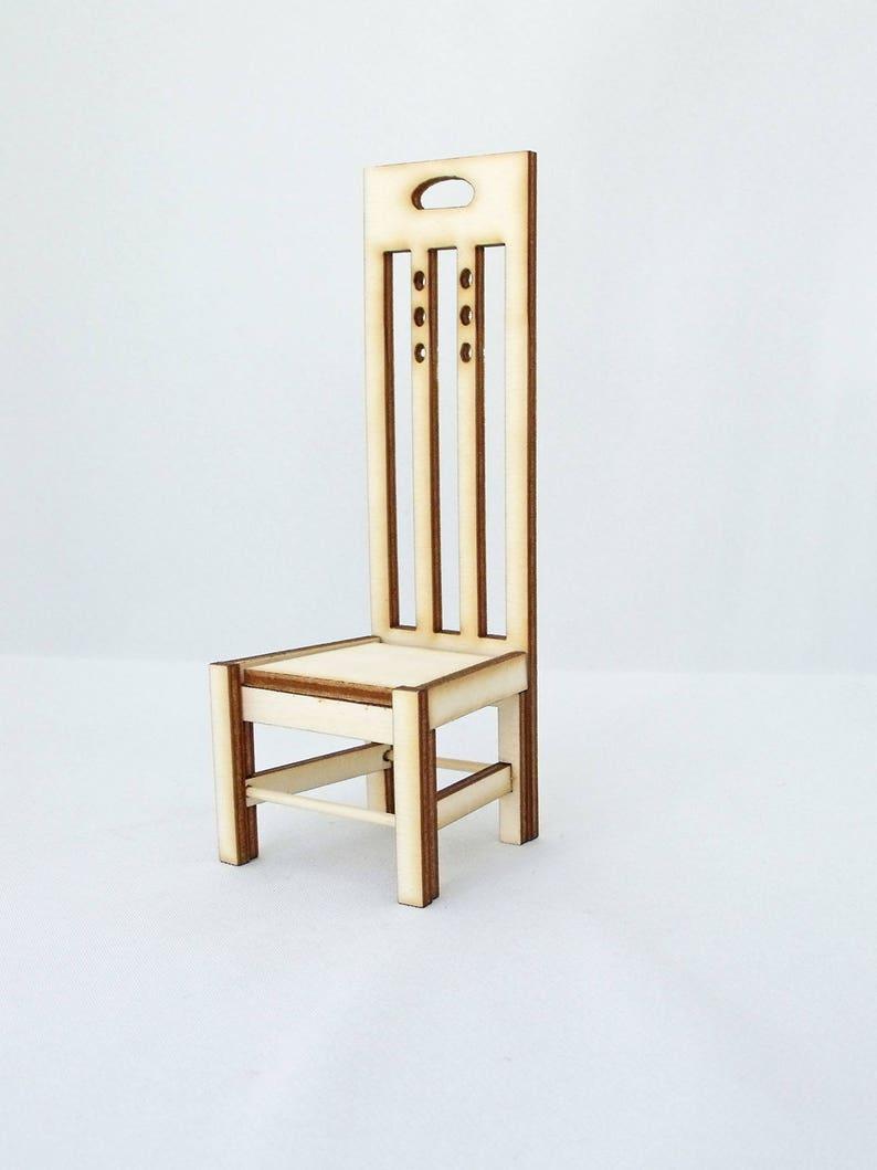 Mackintosh Style Dolls House Chair Kit 1:12th image 0