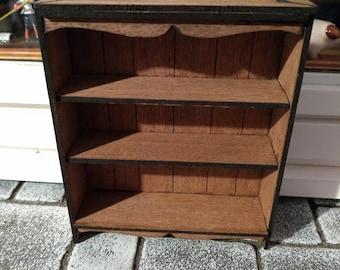Small Bookshelves in Mahogany 1:12th Dolls House