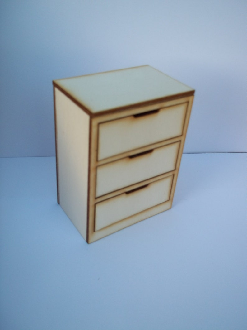 Modern Chest of Drawers Dolls House Furniture Kit 1:12th image 0