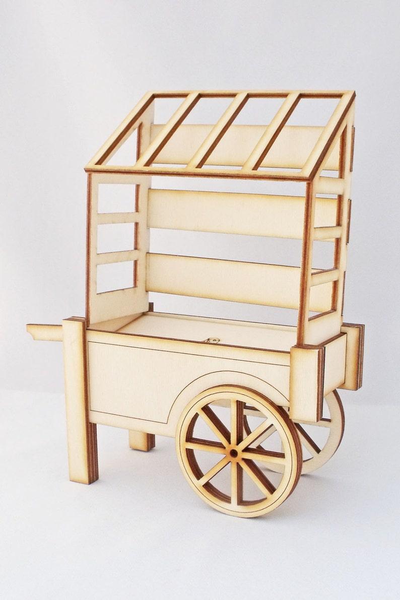 Market Vendors Cart Kit Sweet Cart and Canopy Dolls House image 0