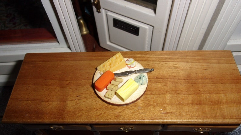 Cheese and Biscuits for 1:12th Dolls House Supper image 0