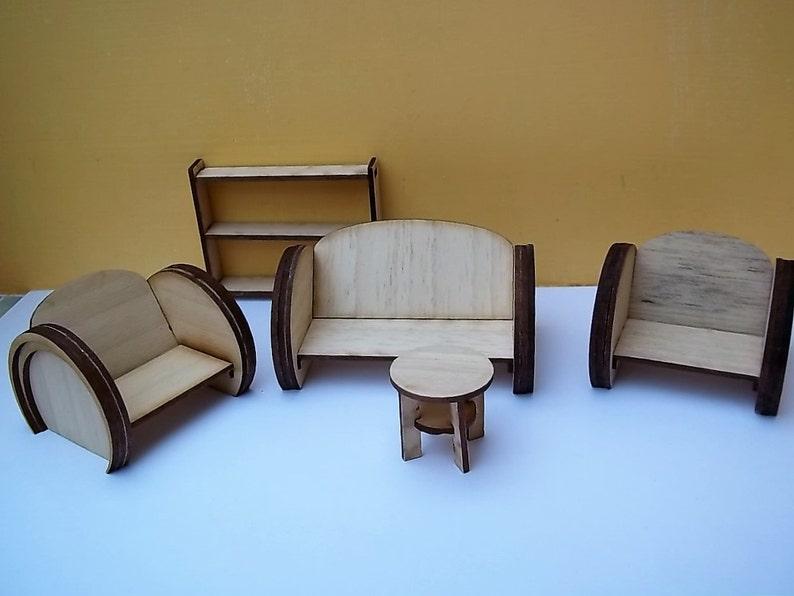 1:24th Art Deco Style Lounge Suite Kit image 0