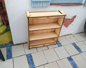 Small Bookshelves in Obeche 1:12th Dolls House