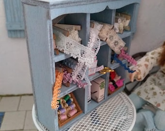 Haberdashery Lace and Trim Display 1:12th Dolls House