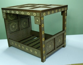 Tudor Rose 4 Poster Bed for 1:12th Dolls House