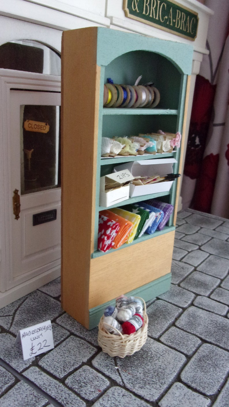 Haberdashery Shelf Unit in Sage and Pine image 0