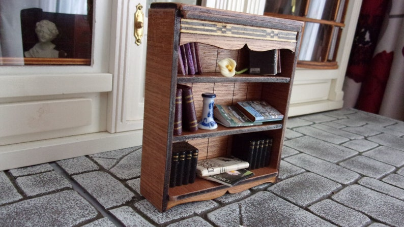 Handmade and Dressed Bookcase 1:12th Dolls House image 0
