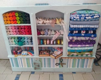 Haberdashery Display Shelves 1:12th Dolls House