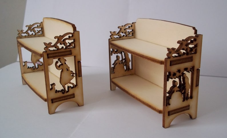 Small Victorian Shelves. Price for 1 shelf unit 1:12th Dolls image 0