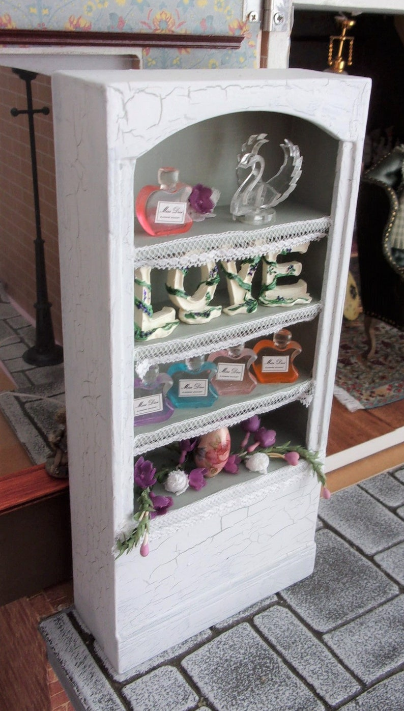 Dior Shelf Unit in Crackle Finish 1:12th Dolls House image 0
