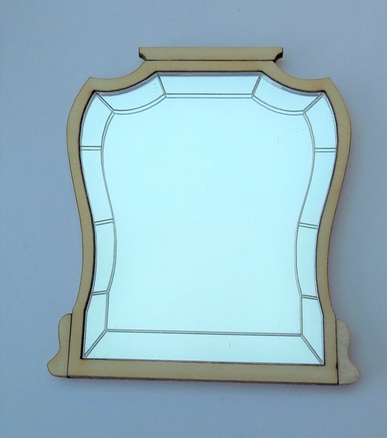 Over Mantel Mirror Kit 1:12th Dolls House image 0