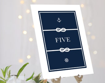 Nautical Wedding Table Numbers, Nautical Wedding Decor, Navy Table Numbers, Navy Table Names, Nautical Table Names, Canary Wharf Collection