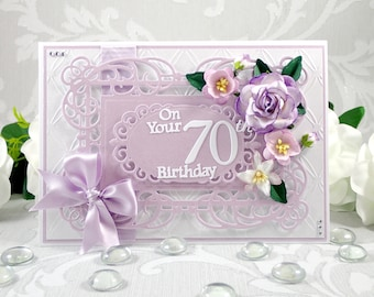Boxed Birthday Card Handmade 21st 30th 40th 50th 60th 70th 80th 90th Luxury Cards