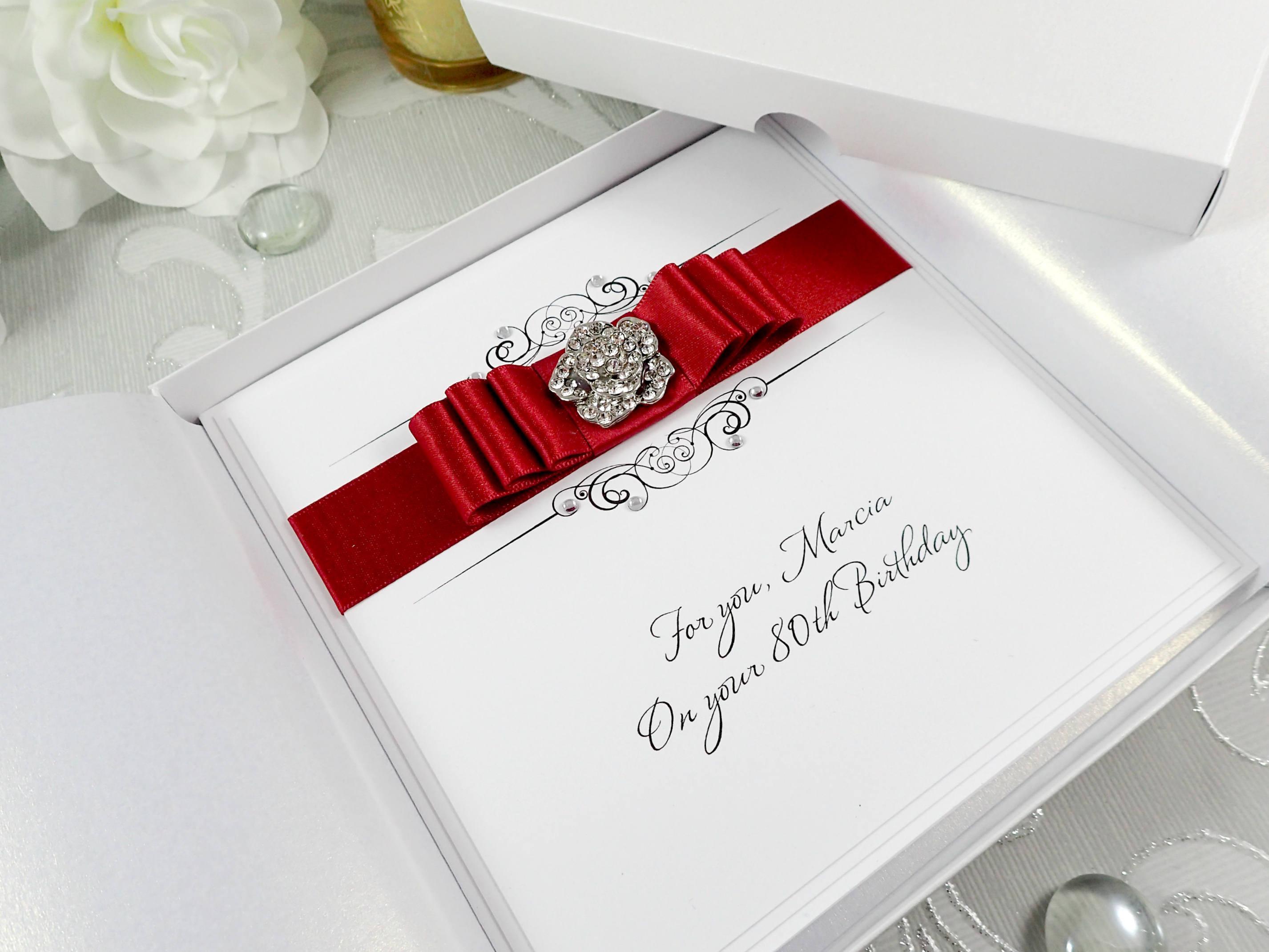 Boxed Birthday Card Luxury Handmade Birthday Card
