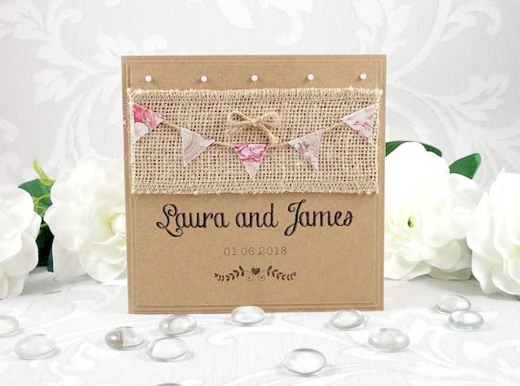Bunting Wedding Invite: Bunting Wedding Invitation Rustic Wedding Invitation