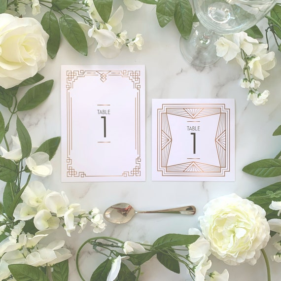 Art Deco Table Number Gatsby Table Name Art Deco Wedding Etsy