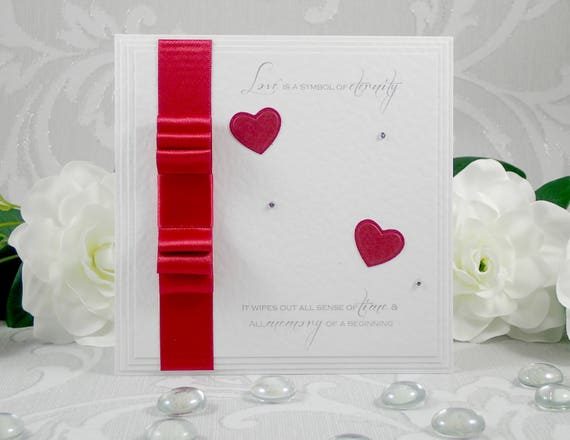 Luxury Boxed Card Husband Wedding Anniversary Card FREE 1ST CLASS POSTAGE