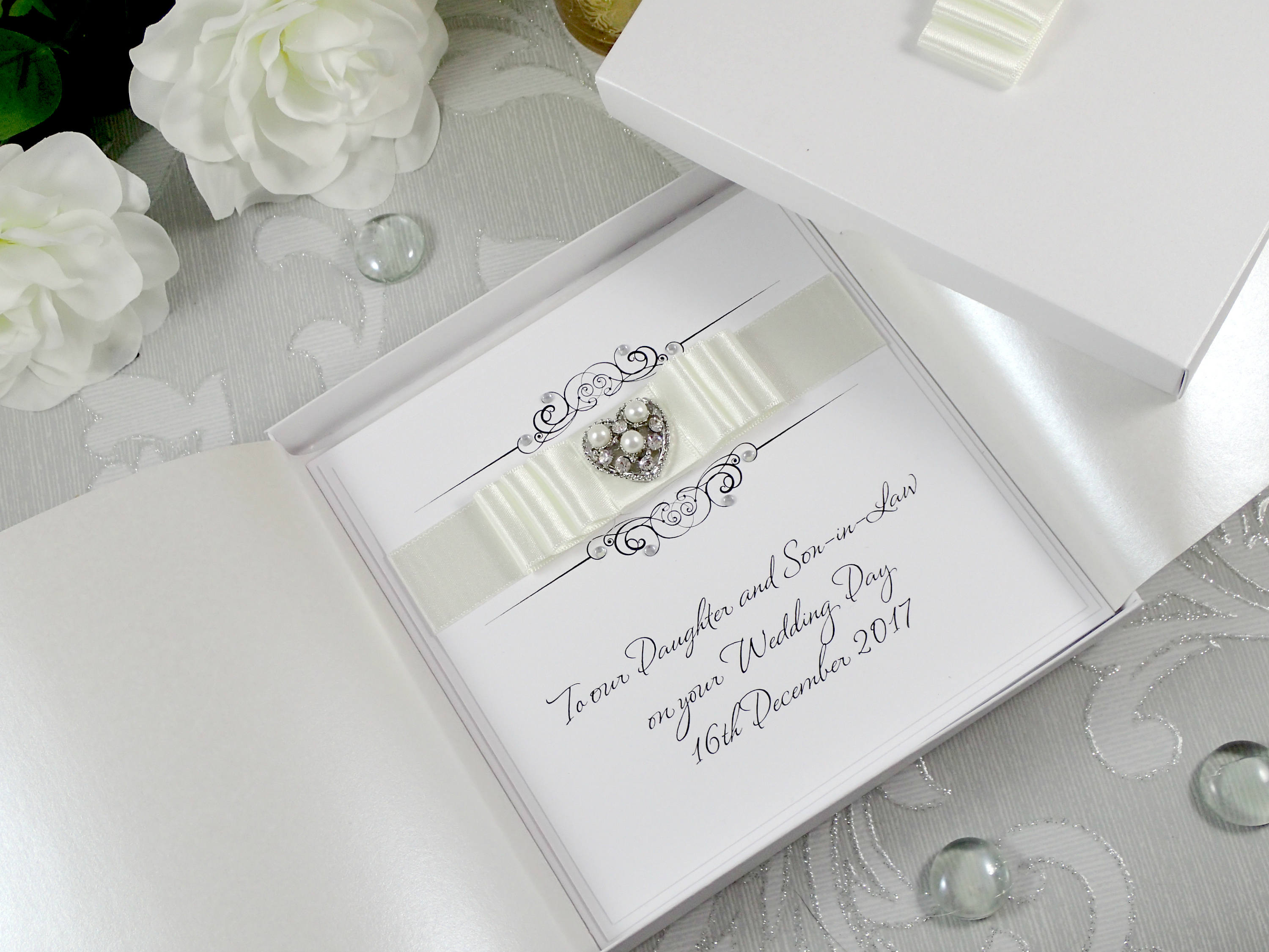 Daughter and Son In Law Wedding Card Luxury Wedding Card