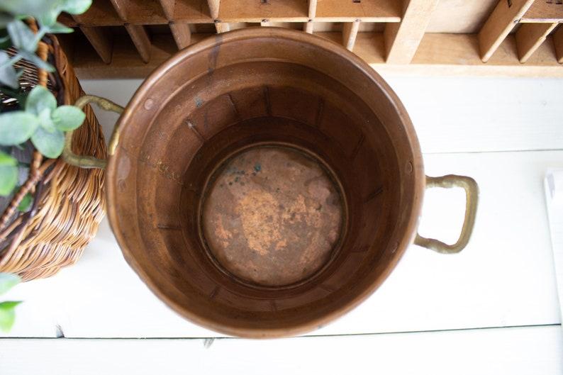 Vintage Copper Pot Copper Planter or Pot with Natural Patina Oxidized Copper Succulent Planters Vintage Copper Vintage Bowl Copper Planter