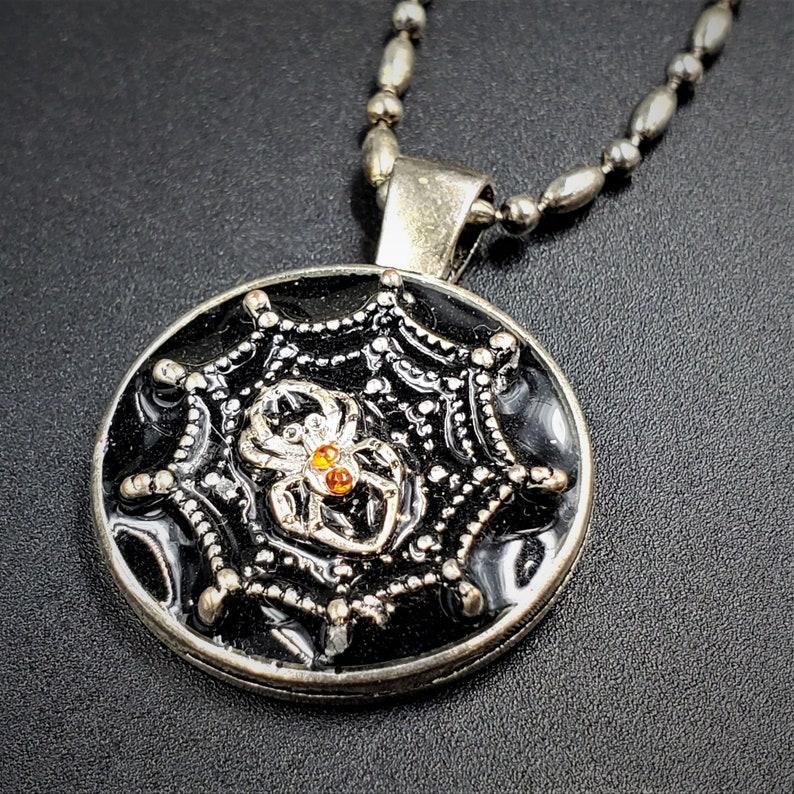 Spider Web Halloween Necklace