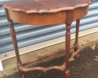 Vintage Half Moon Hallway Side Table