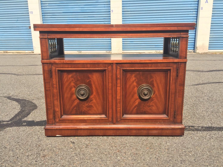 Vintage Buffet Credenza w/ Flip Top Serving Cart/ Bar ...