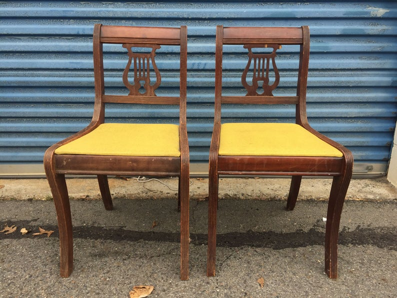 Accent Chairs Sold In Pairs.Vintage Pair Of Accent Chairs