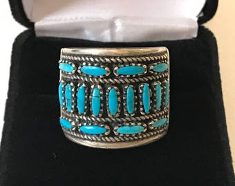 Mexican Southwest Sterling and Turquoise Ring